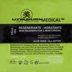 Utsukusy Regenerationsmaske - Sterile regenerierende Gesichtsmaske mit Aloe Vera u. Hyaluronsäure - ideal nach Microneedling mit Dermapen o. Dermaroller