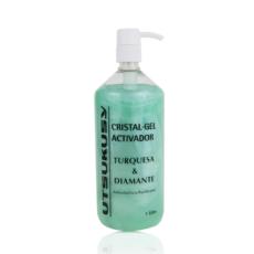Utsukusy Kontaktgel - Turquoise and Diamond Crystalgel - leitfähiges Kontaktgel für Kosmetikgeräte für Kosmetikerinnen u. Heilpraktiker